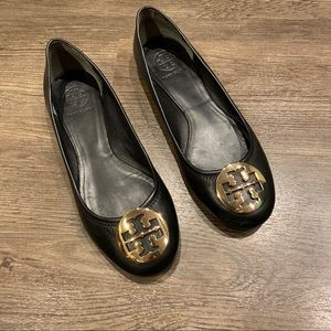 Tory Burch Minnie Ballet Flats Black